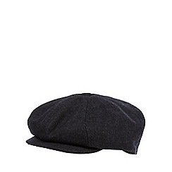 Hammond & Co. by Patrick Grant - Designer grey wool blend baker boy cap