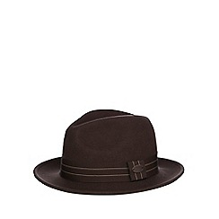 Hammond & Co. by Patrick Grant - Brown wool band fedora