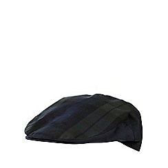 Hammond & Co. by Patrick Grant - Navy checked flat cap