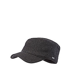 J by Jasper Conran - Dark grey fleece lined train driver hat