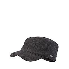 J by Jasper Conran - Dark grey fleece lined train driver hat