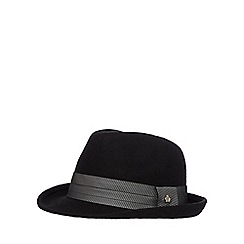 Jeff Banks - Black wool trilby hat