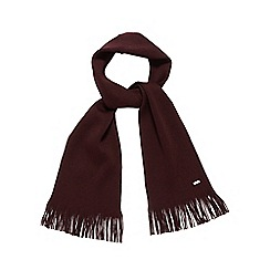 J by Jasper Conran - Dark red Italian Merino wool scarf