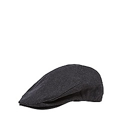 Jeff Banks - Dark grey wool blend flat cap