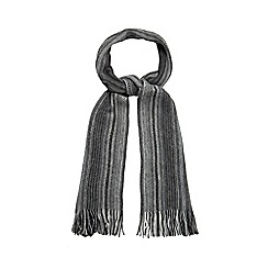 Mantaray - Grey striped zip scarf