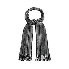 Mantaray - Grey striped zip scarf