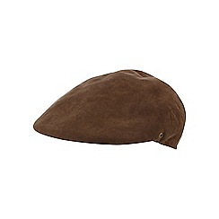 The Collection - Khaki moulded flat cap