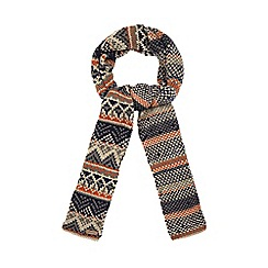 Mantaray - Navy exploded Fair Isle scarf