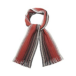 RJR.John Rocha - Red striped brushed wool scarf
