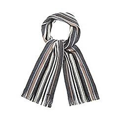 RJR.John Rocha - Grey striped brushed wool scarf
