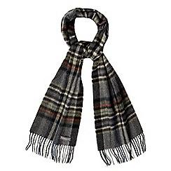 RJR.John Rocha - Grey tartan wool scarf