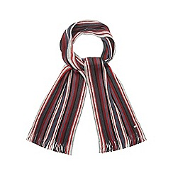 J by Jasper Conran - Grey striped scarf