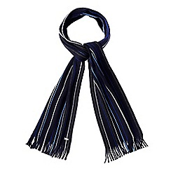 J by Jasper Conran - Blue striped wool scarf