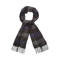 J by Jasper Conran - Blue jacquard check print scarf
