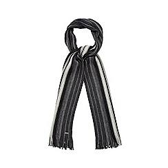 J by Jasper Conran - Grey pinstripe scarf