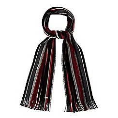 J by Jasper Conran - Black striped scarf