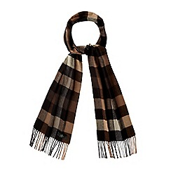 J by Jasper Conran - Brown checked scarf