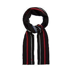 Jeff Banks - Black striped reversible scarf