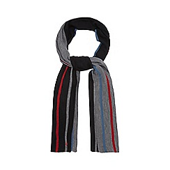 Jeff Banks - Grey striped reversible scarf