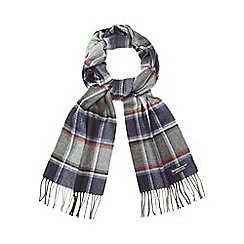 Hammond & Co. by Patrick Grant - Grey chalk line herringbone scarf