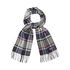 Hammond & Co. by Patrick Grant - Grey chalk line herringbone scarf