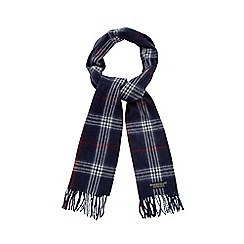 Hammond & Co. by Patrick Grant - Navy checked scarf
