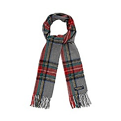 Hammond & Co. by Patrick Grant - Grey tartan check scarf