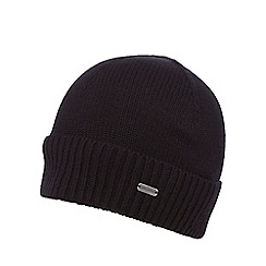J by Jasper Conran - Black ribbed beanie