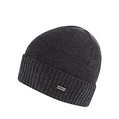 J by Jasper Conran - Grey ribbed beanie
