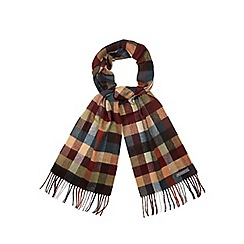 RJR.John Rocha - Orange checked scarf in a gift box