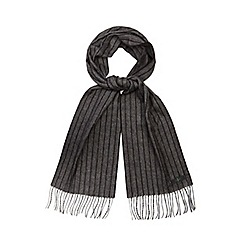 J by Jasper Conran - Grey pinstripe scarf in a gift box