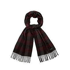 J by Jasper Conran - Red checked scarf in a gift box