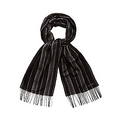 J by Jasper Conran - Grey striped scarf in a gift box