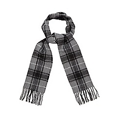 Red Herring - Grey checked woven scarf
