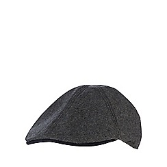 Hammond & Co. by Patrick Grant - Grey contrast peak flat cap