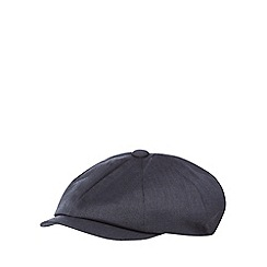 Hammond & Co. by Patrick Grant - Navy herringbone baker boy cap