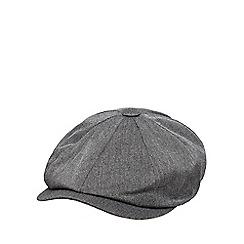 Hammond & Co. by Patrick Grant - Grey herringbone baker boy cap