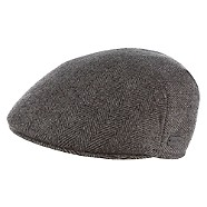 John Rocha Grey herringbone wool flap cap