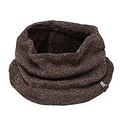 Heat Holders - Brown fleece lined neck warmer
