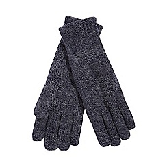 Heat Holders - Navy fleece lined thermal gloves