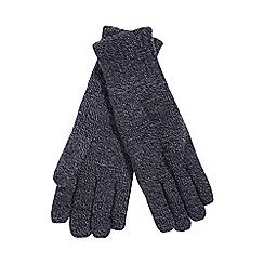 Heat Holders - Navy fleece lined thermal gloves