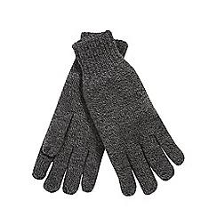 Heat Holders - Grey fleece lined thermal gloves