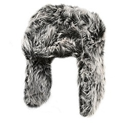 Red Herring - Grey faux fur trapper hat