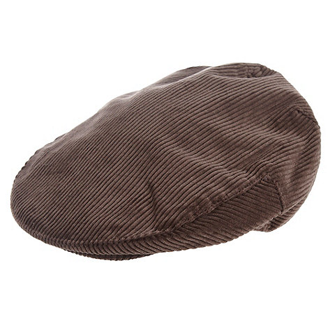 Osborne - Chocolate brown chunky cord flat cap