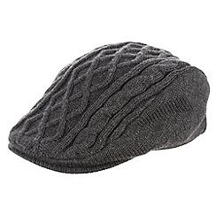 RJR.John Rocha - Designer grey cable knit flat cap