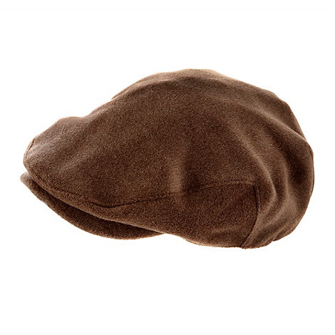 Osborne - Dark brown melton flat cap