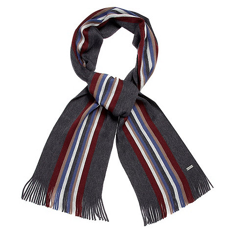 J by Jasper Conran - Designer grey multi striped scarf