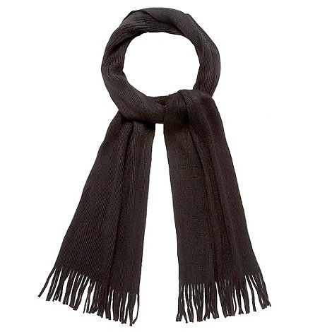 Red Herring - Black plain knitted scarf
