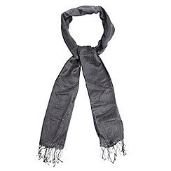J by Jasper Conran - Designer grey herringbone scarf