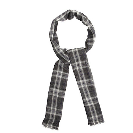 Jeff Banks - Designer grey woven checked scarf
